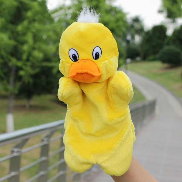 Children Animal Duck Hand Puppet Baby Early Educational Cartoon Yellow Duck Dolls Kids Bedtime Stories Soft Plush Toys