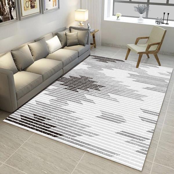 Großhandel Trend Grey Serie Teppiche 3D Gedruckt Home Teppiche Für  Wohnzimmer Schlafzimmer Arbeitszimmer Nachttisch Teppich Küche WC Anti  Rutsch ...
