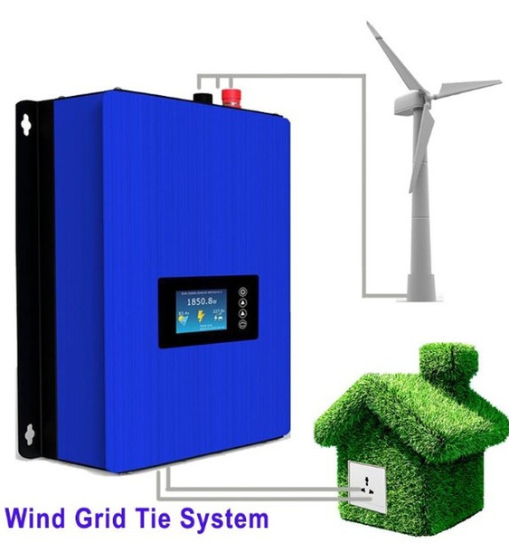 MPPT 2000W Wind Power Grid Tie Inverter with Dump Load Controller/Resistor for 3 Phase 45-90v wind turbine generator LLFA
