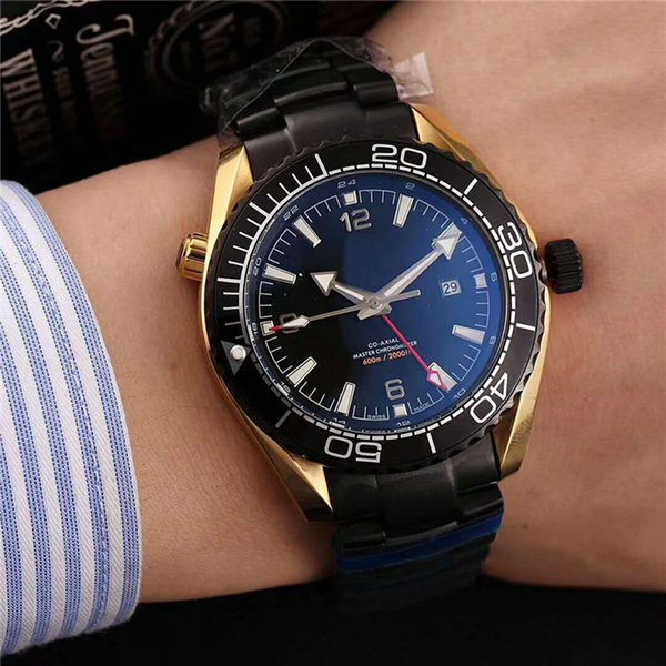 New Casual Automatic Core 316 Stainless Steel Case Coated blue glass mirror(sapphire glass)Double buckle Stainless Steel strap Men watch