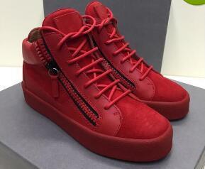 Hot Sales Fashion Brand Shoes Men Women Casual Low Top Black Leather Sports Shoes Double Zipper Flat Men Sneakers Iron Sheets Shoes 35-46