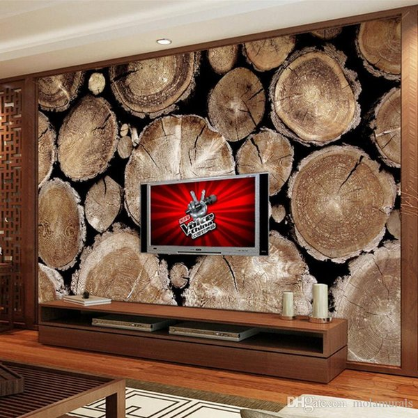 Custom wallpaper for walls 3 d Non-woven Wallpaper Retro Wood Abstract Art wall Living Room Sofa TV Background Photo Wall Paper