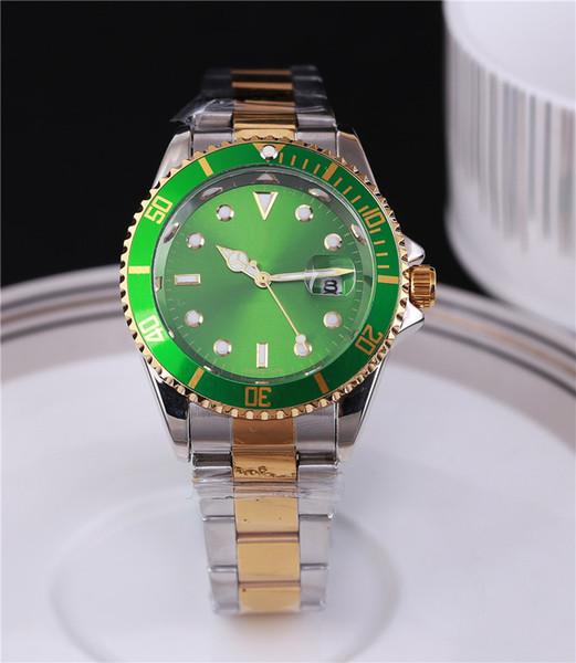 2019 reloj hombre tag marca reloj de pulsera para hombre relojes de diseño automáticos hombres día fecha moda pulsera de lujo reloj de oro y plata completo