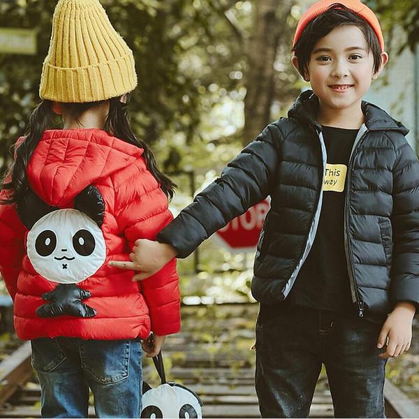 Дети верхняя одежда пальто зимние мальчики девочки Куртки пальто младенческой теплый детские парки толстые дети с капюшоном одежда