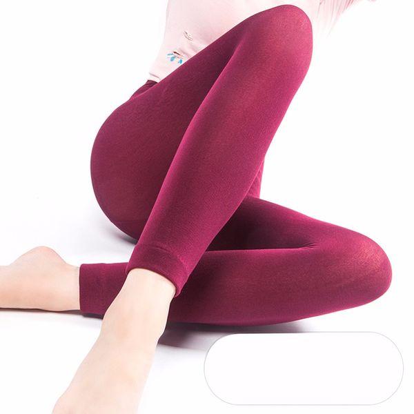 4 Color Winter Warm Leggings for Women Mid Waist Lady Fashion Women Slim Stretched Comfortable Leggings Black Beige