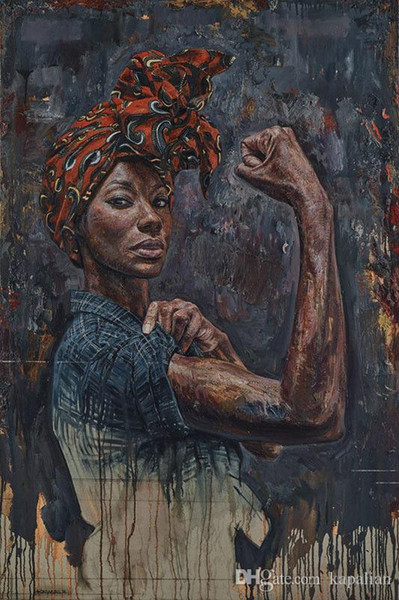top popular Tim Okamura Art Poster Rosie We Can Do It Drawing High Quality Art Posters Print Photo paper 16 24 36 47 inches 2021