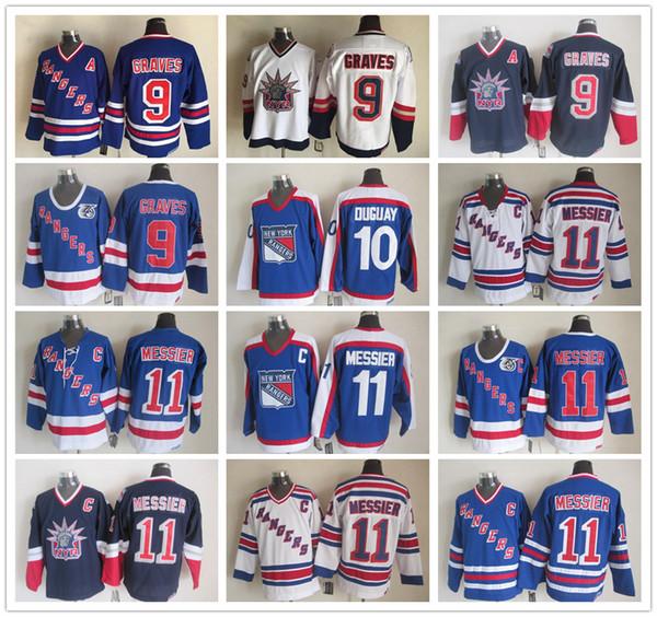 New York Rangers Jersey CCM Old Time 9 Adam Graves 10 Ron Duguay 11 Mark  Messier d790d96e9