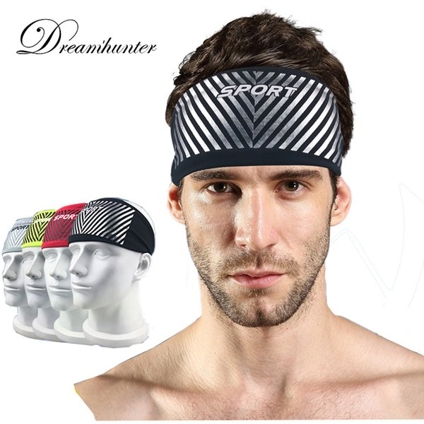 Breathable Sports Headband Lycra Cycling Running Yoga Sweat Headband For Men Women Sweatband Head Bandage Straps