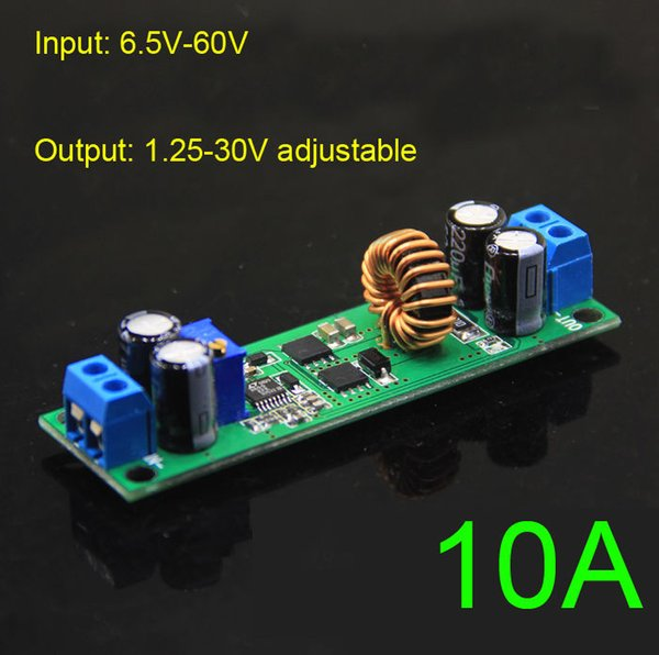 Freeshipping 10A DC-DC 6.5V-60V 36v 48v 19v to 3V 5V 12V 24V Step Down Voltage Regulated Power Converter