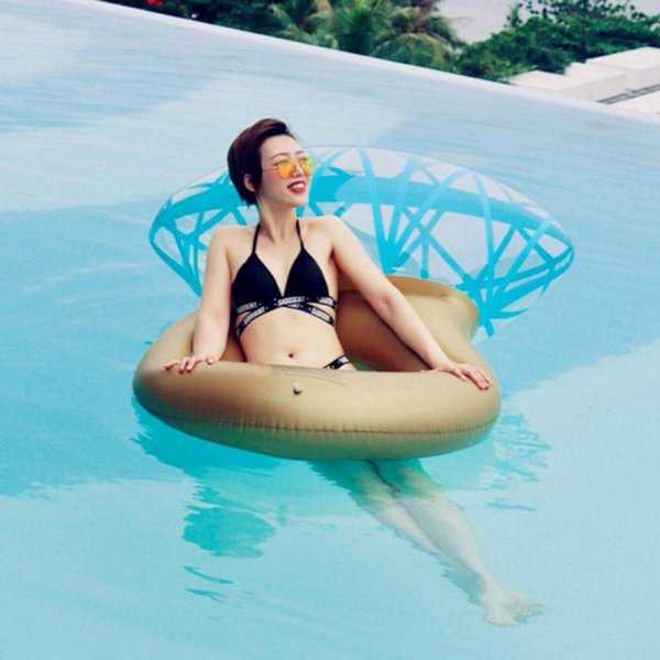 Hot Sale Giant Diamond Ring Inflatable Mattress Swimming Circle Pool Float Boia Piscina Party Toy Tube Raft For Adult Children35