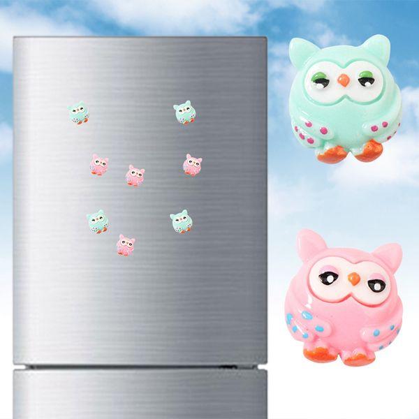 Owl Fridge Sticker Cute Cartoon Animal Painted Resin Magnetic Refrigerator Sticker Creative For Home Decor Animal Fridge Magnets