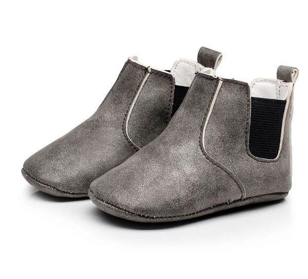 HONGTEYA Newborn Baby boots PU Leather Autumn winter keep warm shoes toddler Baby Moccasins Soft soled Prewalker Booties