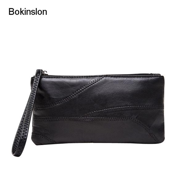 Bokinslon Handbags Bags Women PU Leather Fashion Female Handbags Large Capacity Solid Color Woman Zipper Bags