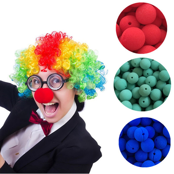 50pcs Colorful Fun Nose Foam Circus Clown Nose Comic Party Supplies Halloween Accessories Costume Magic Dress Party Supplies