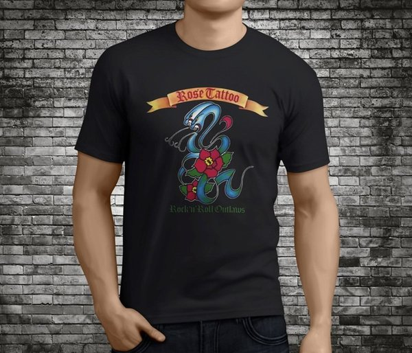 UNSPOKEN Rock Mens  T-Shirt Black Skulls Tattoo Art Spiral