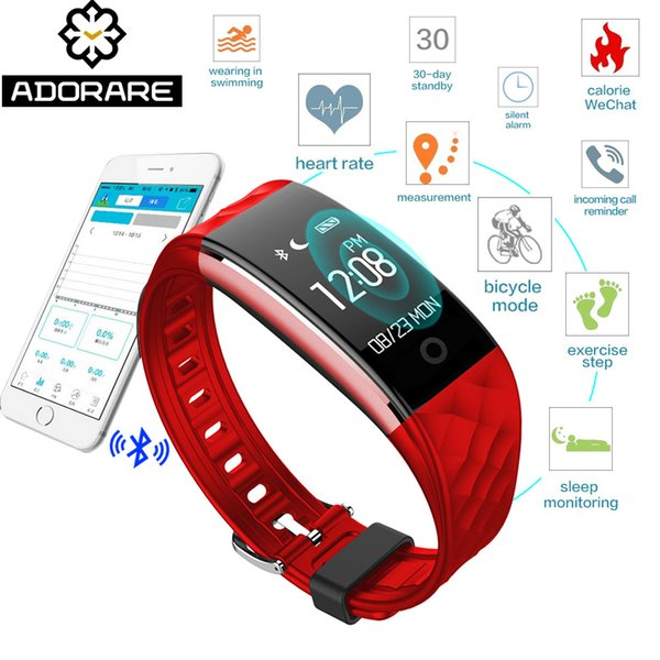 ADORARE S2 Smart Watch Women Men Bluetooth Wristband Heart Rate Monitor Fitness Tracker Smart Bracelet For IOS Android Y18102310