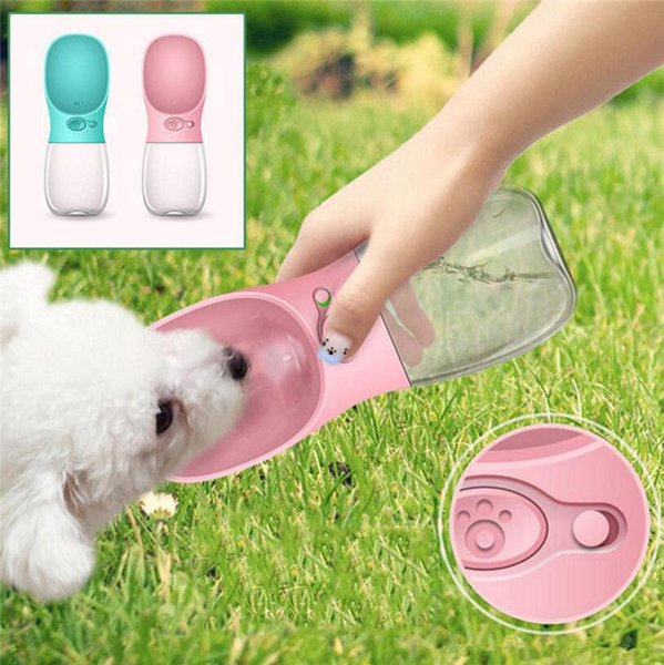 350ML Pet Dog drinker Cat Water Bottle Drinking Dispenser Outdoor Sports Water Feeder Fedding Bottle Dog Feeders 12pcs T1I755