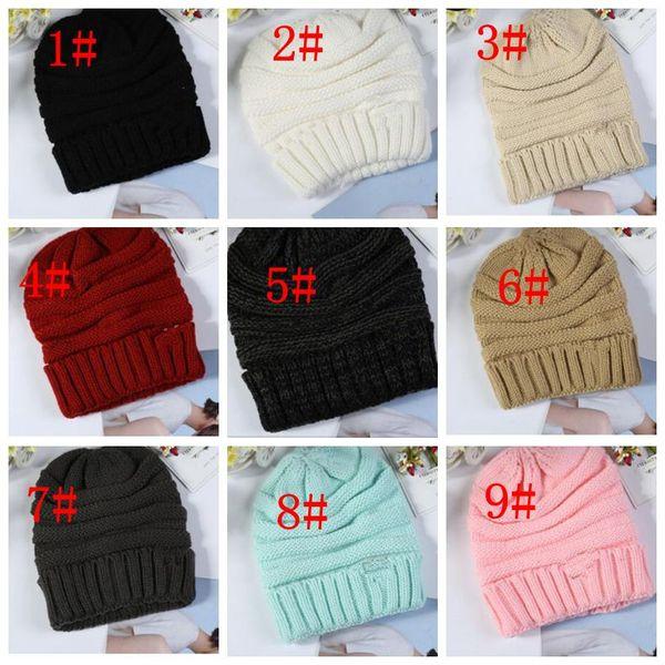 15 farbe erwachsene strickmützen Wintermützen für Frauen Strickmütze Warme Baggy Stretch Knit Chunky Cable Beanie Ski Cap KKA6294
