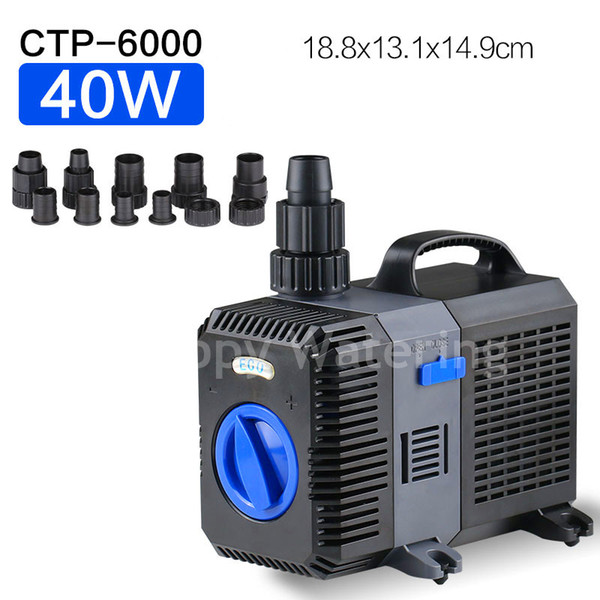 CTP-6000 Type 40W Submersible Water Pump for Aquarium Pond Fish Tank Fountain With 6000L/H 4.2M Lift Amphibious Water Pump