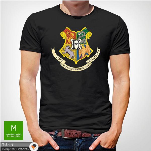 Harry Potter Hogwarts Tshirt Uomo Natale unisex regalo di compleanno di Natale Grigio T-Shirt Uomo Ragazzo fresco bianco manica corta Custom XXXL Maglietta squadra