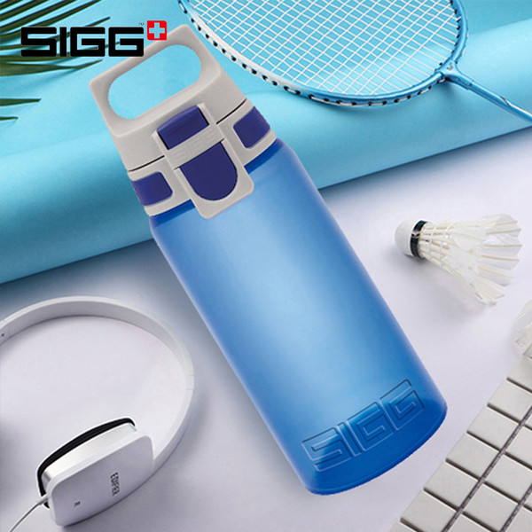 Sigg Outdoor Sports Bottle Portable Hand Bottle Easy Open Straight Creative Fitness Water With Lid 0.5 Litre