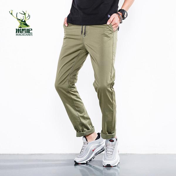 Pantalones de hombre 2018 Nueva Moda Hombres Pantalones de chándal Gimnasio Culturismo Gimnasios para corredores Ropa Pantalones de chándal de otoño Más el tamaño