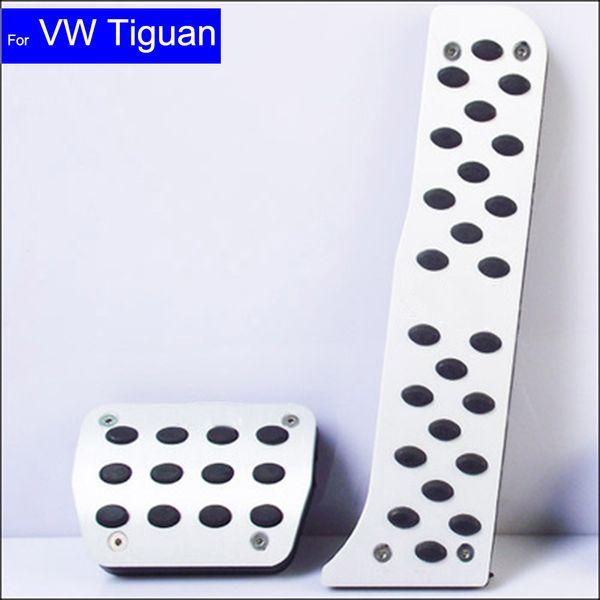 Car Petrol Clutch Fuel Brake Braking Pad Foot Pedals Rest Plate for VW Volkswagen Tiguan Sagitar Auto Pedals Free Shipping