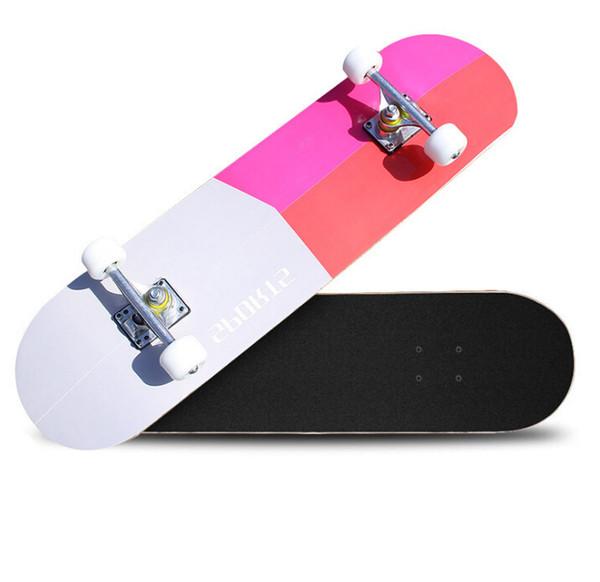 Skateboard doble curva de cuatro ruedas fábrica adulto niños deportes carretera cepillo calle monopatín profesional
