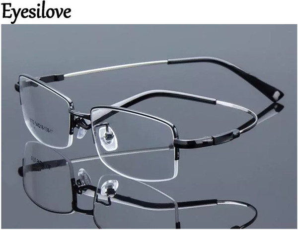 Eyesilove Retail 1pcs half-rim optical frames metal myopia eyeglasses frame for men women prescription glasses