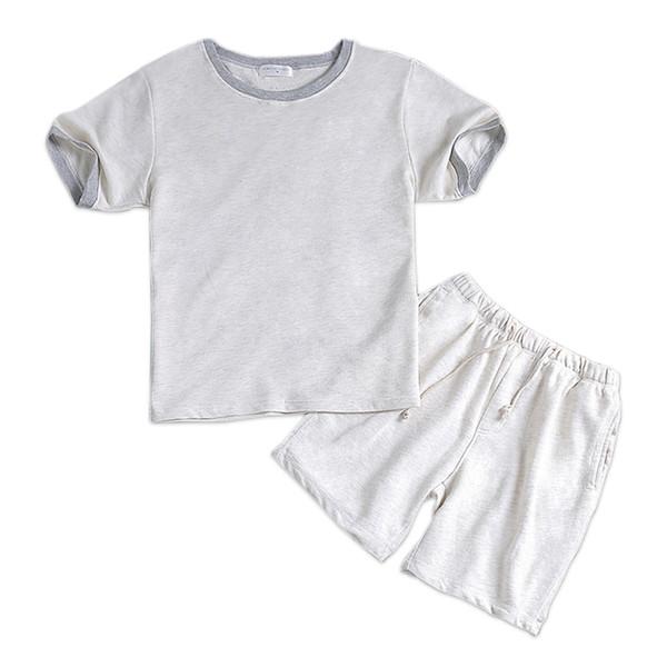 L'été 100% coton blanc mâle court pyjama définit manches courtes mens vêtements de nuit casual homewear pyjamas blanc simple loungewear