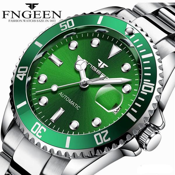 e1c296c9c24 Relógios de grife de luxo Relógios Mecânicos Homens À Prova D  Água Relógio  Automático Completo
