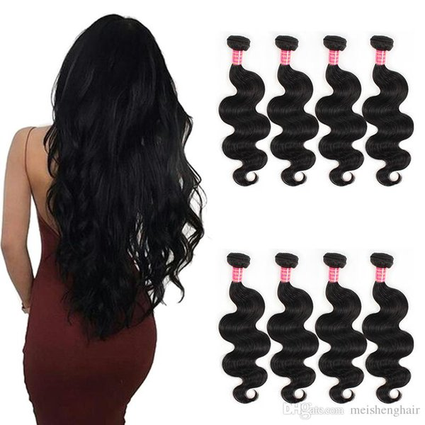 Wholesale 8A Peruvian Body Wave 4Bundles Unprocessed Human Virgin Hair Weave Double Weft Cheap Peruvian Body Wave Hair Extension 8-28inch