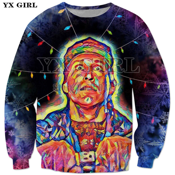 YX Girl 3d Printed Clothes Mens Christmas Vacation Lights Sweatshirt Women Men Christmas Gift Polyester Long Sleeve Pullovers