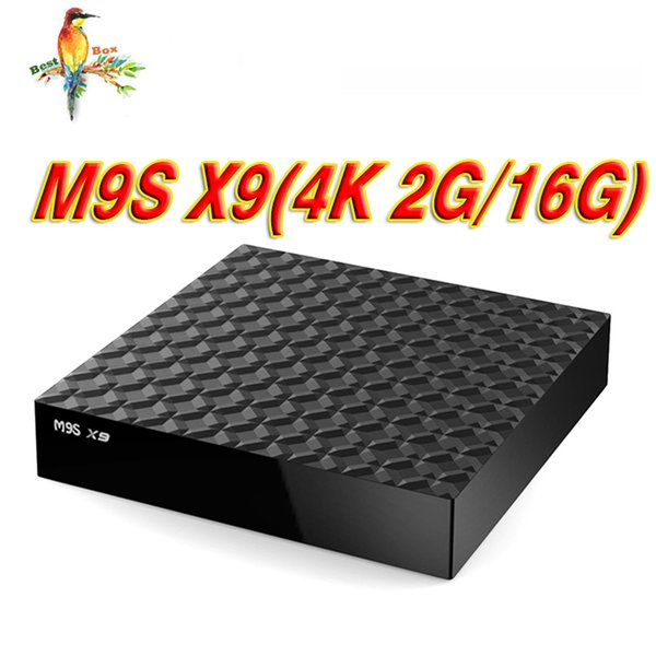 Exclusive Android TV Box M9S X9 4K 2GB 16GB RK3229 Quad core Support HD HDMI Wifi 4K Streaming Media Player Boxes Better TX2 X96