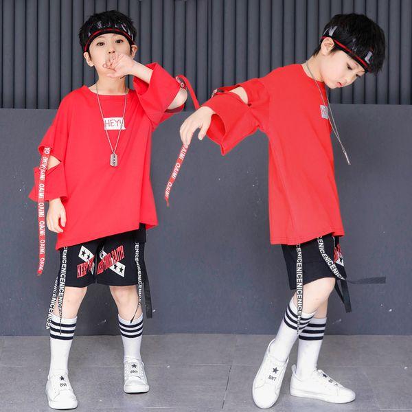 Boys Hip Hop Dancing Costume Ballroom Dancewear for Girls Loose Shirts Kids Shorts Pants Hip Hop Clothing Children Dance Wear