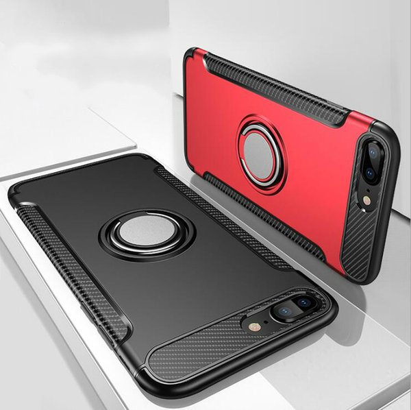 2018 best originality for iPhone 8 Mobile phone cases shell Invisible Ring Car Full encircling for i6/i7P Case for iPhone X mix 13 colors