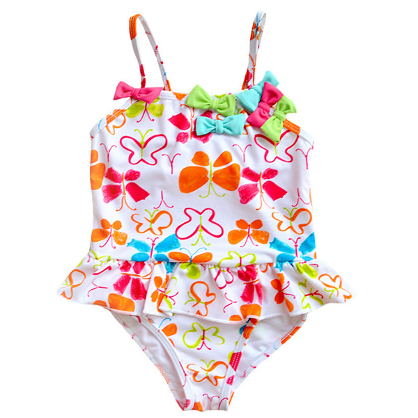 Children combination of hot style swimsuit cuhk and students tong hollow embroidery cake points one-piece swimsuit, a lovely girl