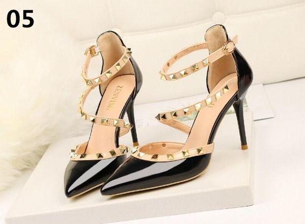 b0bde6e729 nova mulher Bombas de outono sapatos de salto grosso ol sapatos de salto  alto do sexo