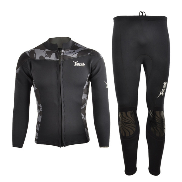 2mm New Camouflage Split-type Diving Suit Keep-Warm Cold-Proof Sun-Block Long Sleeve Surf