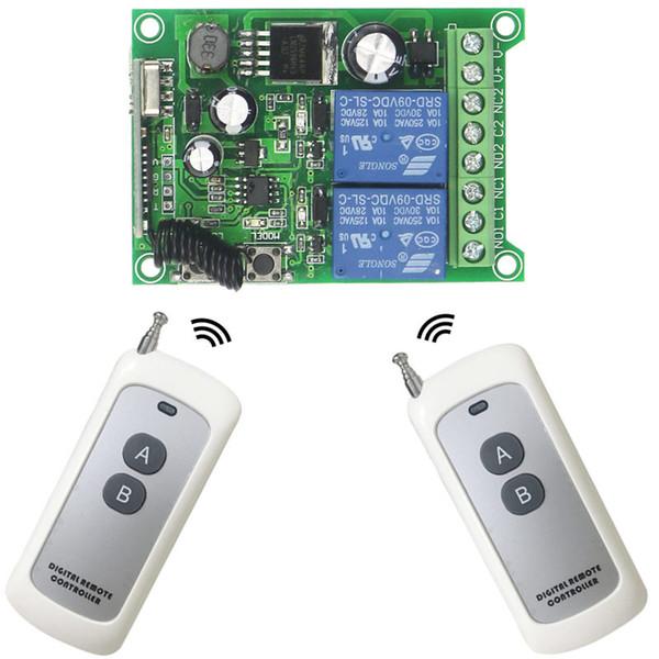 433 МГц универсальный беспроводной пульт дистанционного управления переключатель DC 12 В-48 В 2-канальный релейный приемник модуль РФ передатчик 433 МГц пульты дистанционного управления