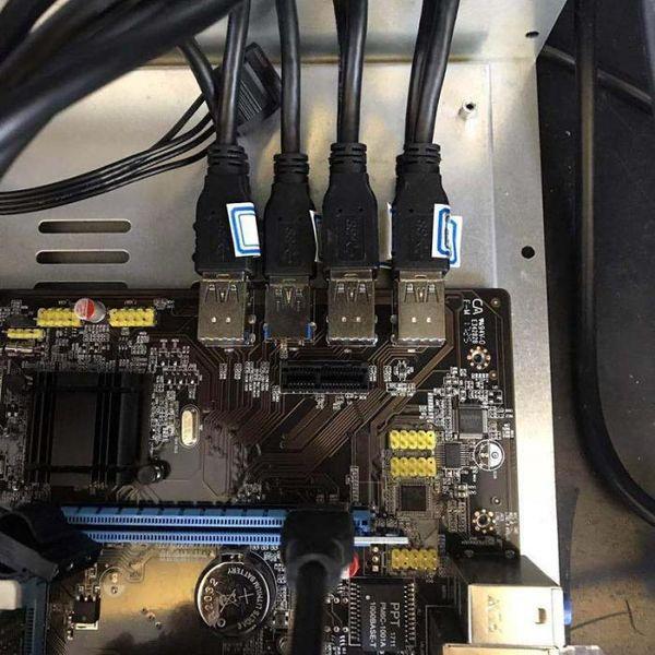 B85 BTC + ETH Madencilik Bitcoin 8 PCI-E USB3.0 Intel XXM8 için doğrudan Yuvaları Anakart