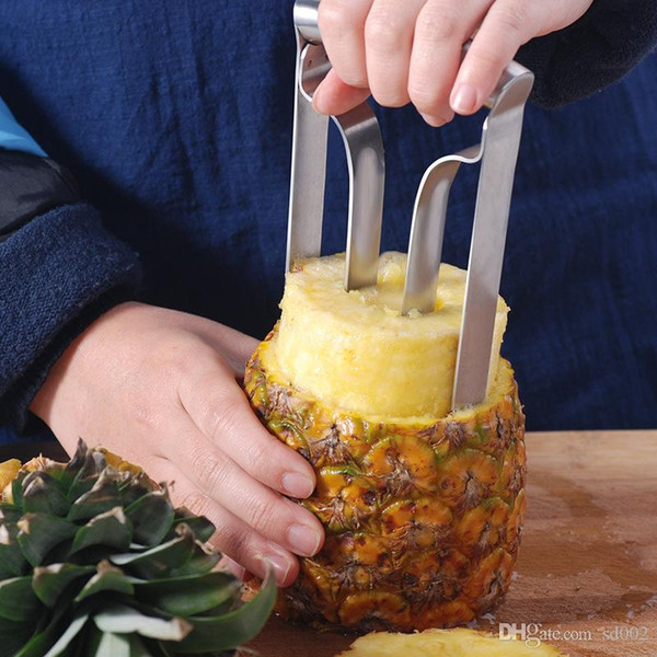 Pineapple Paring Knife Stainless Steel Fruit Slicer Peeler Cutter Save Energy Convenient Kitchen Tools Creative Pratical Hot Sale 15ys ii