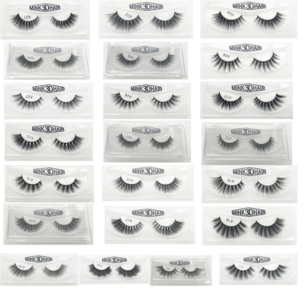 3D Falsche Wimpern 22 Styles Handmade Beauty Dicke Lange Weiche Wimpern Gefälschte Wimpern Wimpern Geschenk Box Paket