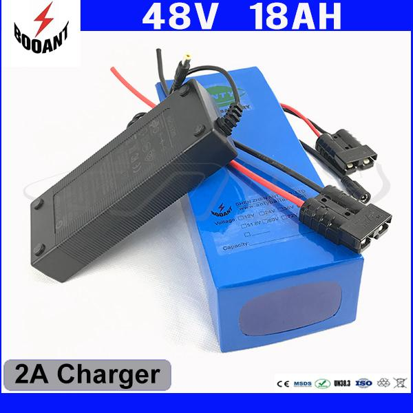 48V 18Ah Electric Bicycle Battery For Bafang 1000W Motor Lithium ion Battery 48V With 2A Charger 30A BMS Free Shipping