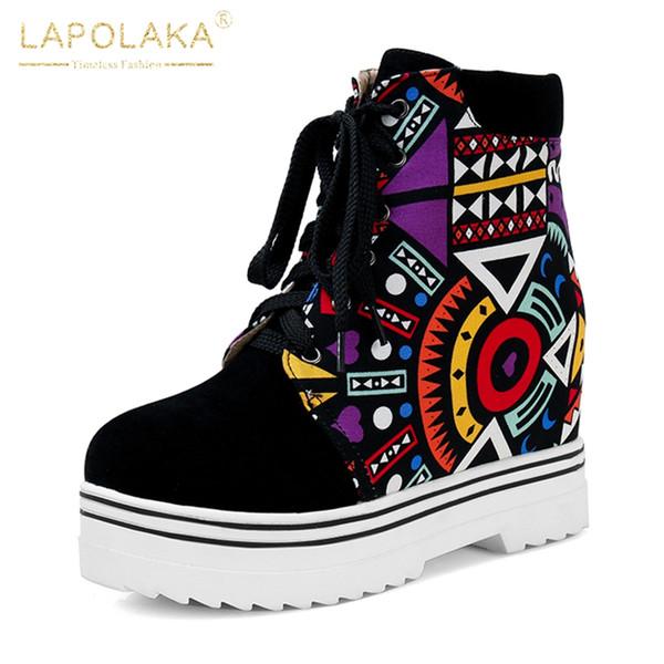 vente en gros nouvelle mode marque nouvelle grande taille 35-43 lacent ajouter de la fourrure chaussures d'hiver chaud femme bottes bottes femme chaussures