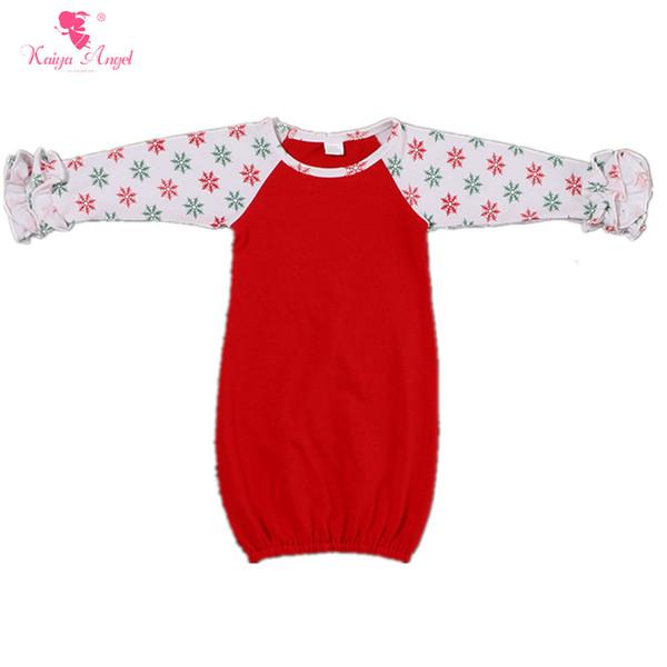 Kaiya Angel Baby Sleeping Bag Christmas Newborn Infant Sleeping Bag Sleepsacks Girls Ruffle Sleeve Raglans Clothes