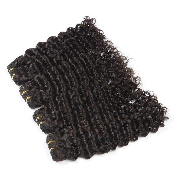 Яркий 6a #1B Off черный цвет девственные волосы ткачество 100 г/1 шт. 10-30 Incs Малайзии глубокая волна Реми наращивание волос 100% плетение человеческих волос