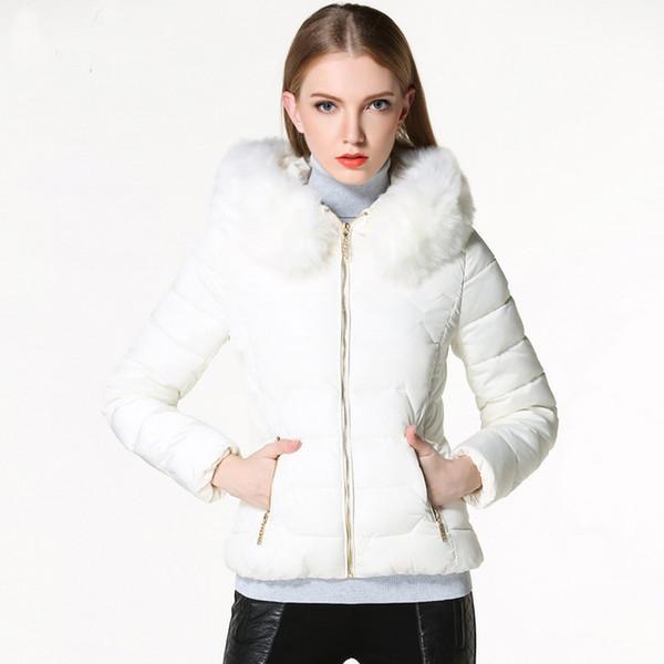 2018 Nouvelle Automne Hiver Veste Femmes Manteau Parka Col De Fourrure Femmes Vers Le Bas De Coton-rembourré Veste Manteau Couleurs De Bonbons Outwear