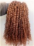 Brezilyalı Insan Bakire Remy gevşek Kıvırmak Saç Atkı Kahverengi Sarışın 30 # Renk Işlenmemiş Bebek Yumuşak Saç Uzantıları 100 g / paket Ürün