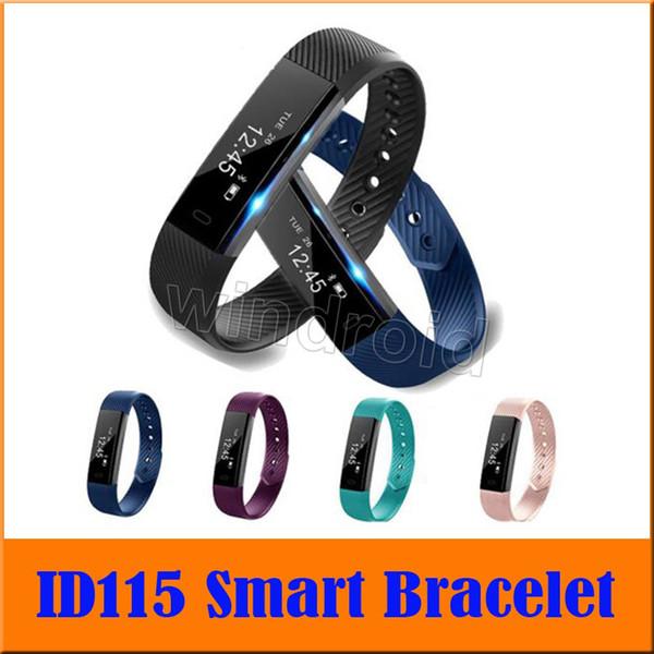 ID115 Smart Bracelet Band Sleep Activity Fitness Tracker Alarm Clock Pedometer Wristband For IOS Android Smartband cheap 30pcs